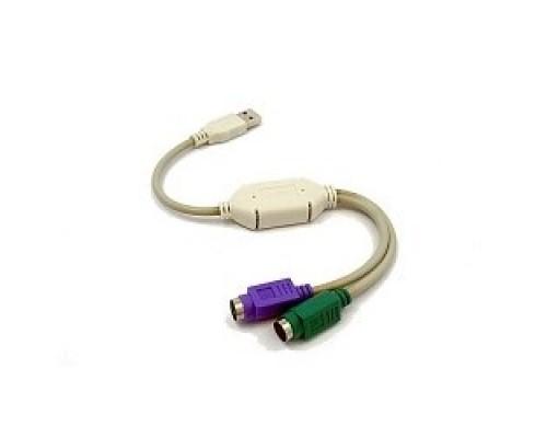 Переходник Gembird Конвертер с USB Am на 2xPS/2 UAPS12