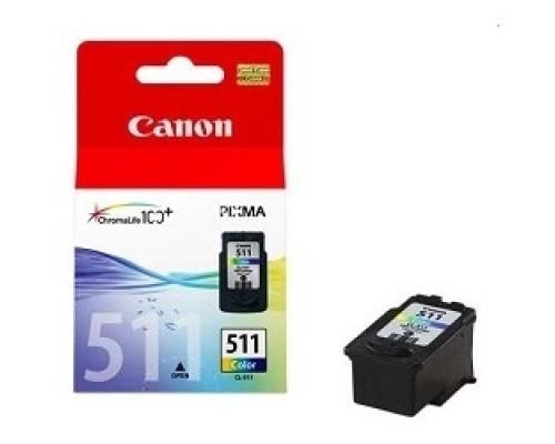 Расходные материалы Canon CL-511 2972B007 Картридж для PIXMA MP240, MP260, MX320, MX330 EMB, Цветной, 244стр., мл.