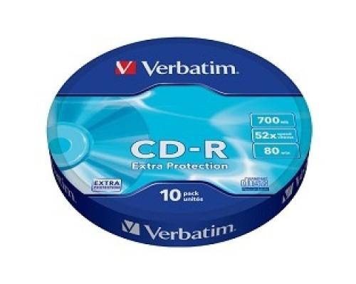 Диск Verbatim Диски CD-R 10шт. 52x 700Mb, Shrink