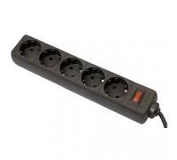 Defender Фильтр ES, 3.0м Коробка 5 розеток, черный 99485