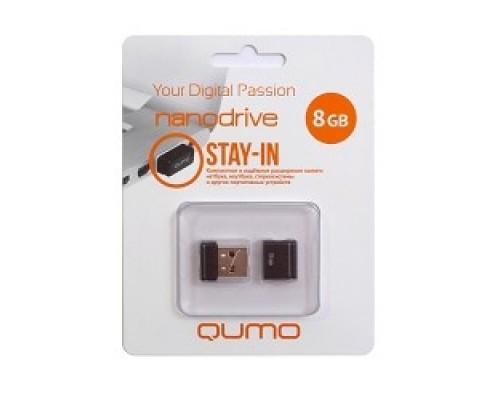 USB 2.0 QUMO 8GB NANO QM8GUD-NANO-B Black