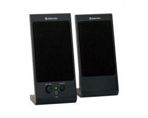 Колонки Defender SPK 165 /170 черные 2.0, 2х2 W, разъем для наушников, USB 65165