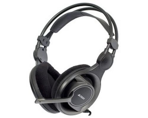 A4Tech HS-100, черные/серый Гарнитура, мониторные, 20 - 20000Гц, длина шнура 2м
