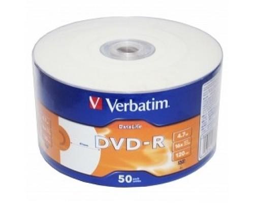 Verbatim Диски DVD-R 4,7 Gb 16x DataLife Inkjet Printable, Shrink, 50 шт (43793)
