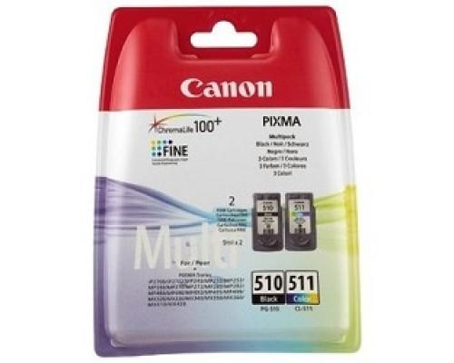 Canon PG-510/CL-511 2970B010 Картридж для PIXMA MP240/260/480, MX320/330, 4 цвета, 244 стр.