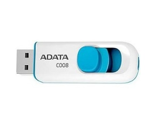 A-DATA Flash Drive 16Gb С008 AC008-16G-RWE USB2.0, белый
