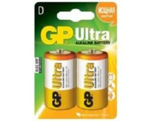 GP Ultra Alkaline (GP 13AU-CR2 )13AU LR20, 2 шт D (2 шт. в уп-ке)