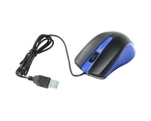 Oklick 225M черный/синий оптическая (1200dpi) USB (3but) 288233