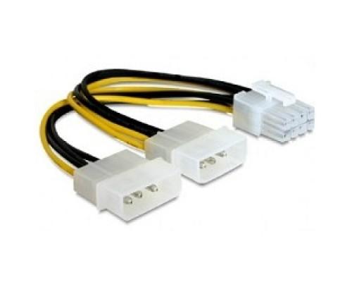 Кабель Cablexpert Разветвитель питания 2xMolex->PCI-Express 8pin, для подключения в/к PCI-Е