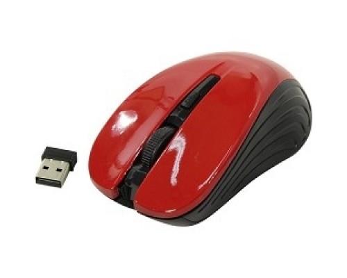 Oklick 545MW черный/красный оптическая (1600dpi) беспроводная USB (4but) 368631