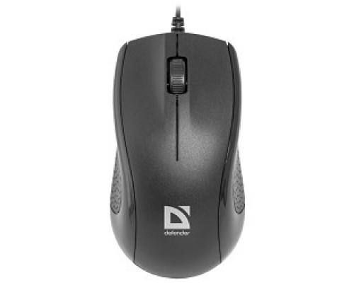 Defender Optimum MB-160 Black USB Проводная оптическая мышь, 3 кнопки,1000 dpi 52160