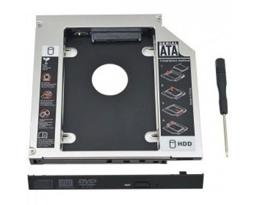 """Переходник ORIENT Адаптер UHD-2SC9, для 2.5"""" SATA HDD установки отсек оптического привода ноутбука 9.5 мм"""