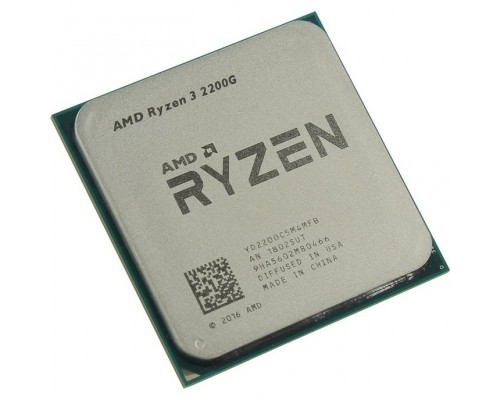 CPU AMD Ryzen 3 2200G OEM 3.5-3.7GHz, 4MB, 65W, AM4, RX Vega Graphics