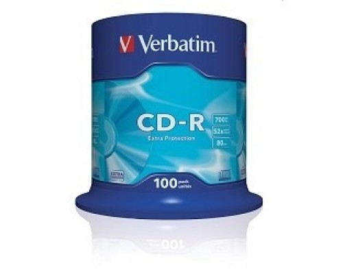 Диск Verbatim Диски CD-R 100 шт. 48/52-x 700Mb, Cake Box