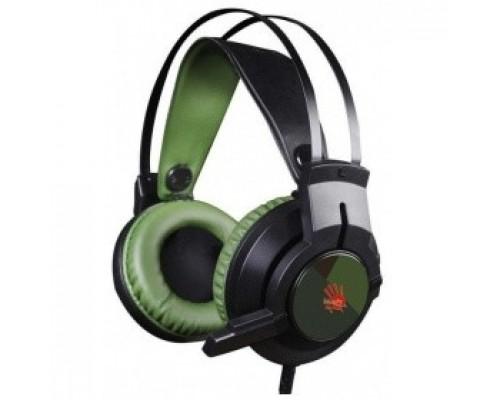 A4 Bloody J450 черный/зеленый 2.2м мониторы оголовье