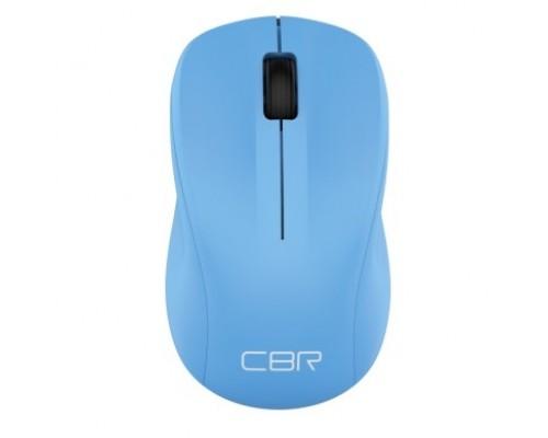 CBR CM 410 Blue, беспроводная, оптическая, 2,4 ГГц, 1000 dpi, 3 кнопки и колесо прокрутки, выключатель питания, цвет голубой
