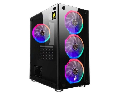 1STPLAYER X2-4R1 FIREBASE X2 / mATX, tempered glass side panels / 4x 120mm LED fans inc. / X2-4R1