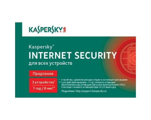 KL1939ROCFR Kaspersky Internet Security Russian Edition. 3-Device 1 year Renewal Card 909109 1402780