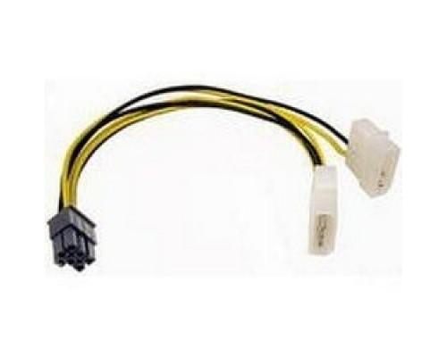 Кабель Gembird Разветвитель питания , 2xMolex->PCI-E 6pin, для подкл. в/к б/п CC-PSU-6
